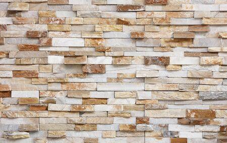 Muro di pietra naturale