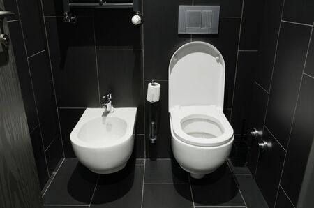 White urinal of the toilet