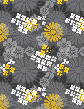printing block: Japanese floral Pattens Illustration