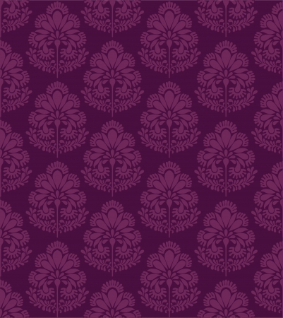 indianische muster: Traditionelle indische floral inspirierte Muster Illustration
