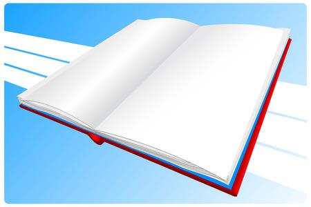 prose: Red book on a blue background Illustration