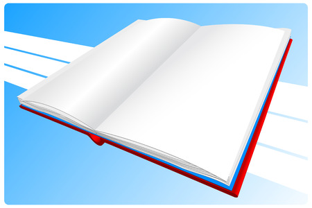 Red book on a blue background Stock Illustratie