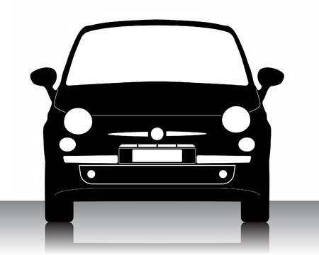 mini: car silhouette on a white background