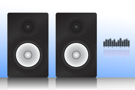 Vector illustration of monitor speaker with equalizer Stock Vector - 4068122