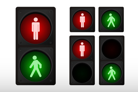 Vector illustration of traffic light
