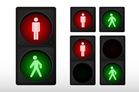 Vector illustration of traffic light Stock Vector - 4068119