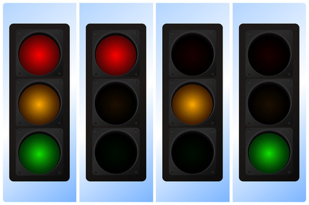precedence: Vector illustration of traffic light