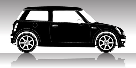 mini: Car silhouette on a white background