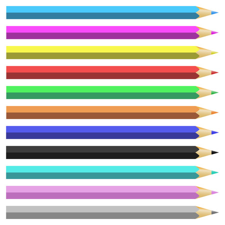 Vector illustration depicting colored pencils Vector