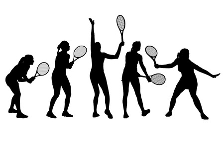 Vector illustration of tennis players Vector