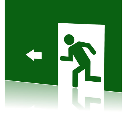 dissociation: 3d vector illustration of emergency exit Illustration