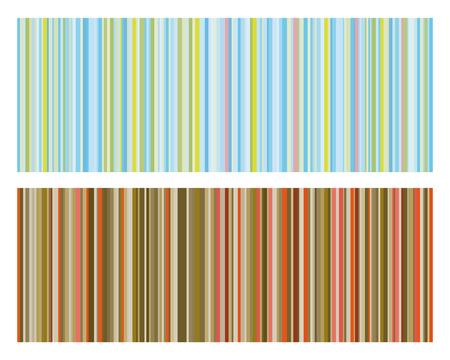 color mixing: Vector illustration of Vintage strip pattern  Illustration