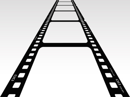 rail track: Vector illustration of 3d view of film