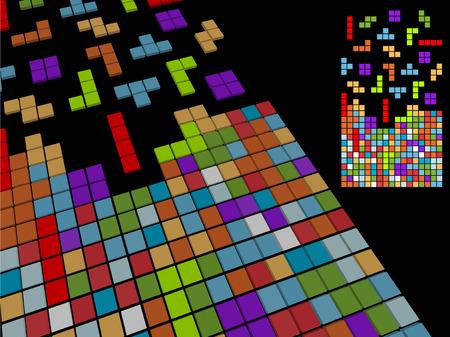 enten: Vectorillustratie van oude digitale spel  Stock Illustratie