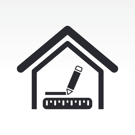 length: Vector illustration of house measures