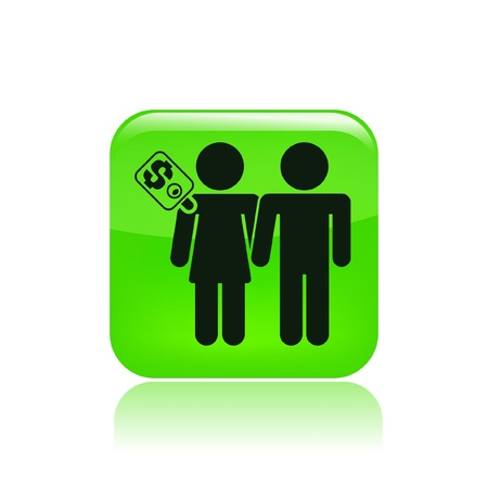Vector illustration of couple for cash Vector