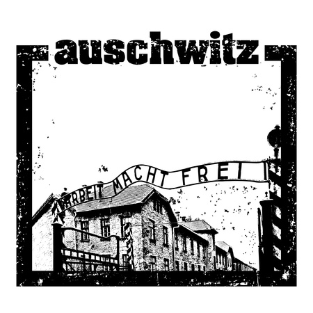 Vector illustration of Auschwitz stamp Stock Vector - 10545525