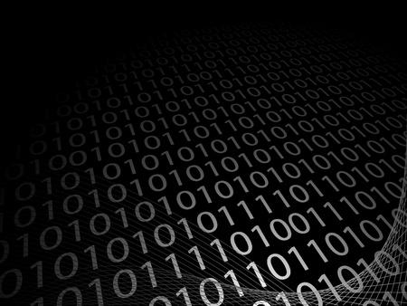 bin�rcode: Vector Illustration der abstrakten Hintergrund mit bin�ren Code
