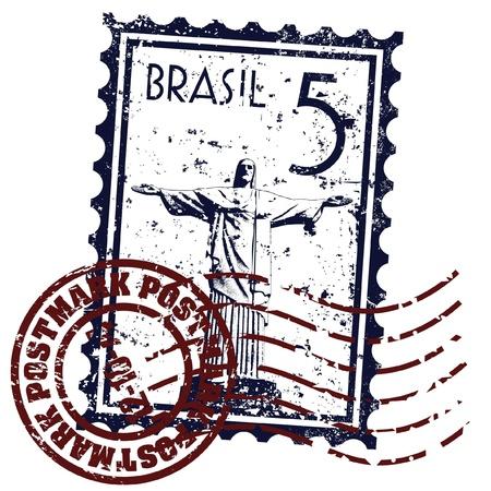 Vektor illustration av Rio de Janeiro Stamp