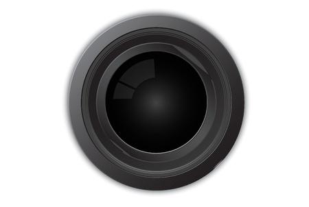 Vector illustration of camera lens Ilustração