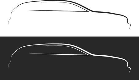 riparatore: Illustrazione vettoriale di silhouette car