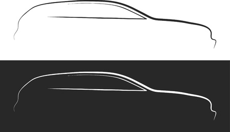 automotive: Vector illustration of car silhouette Illustration
