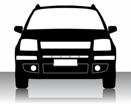 車のシルエットのベクトル イラスト