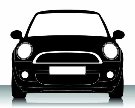 conductor: Ilustraci�n vectorial de la silueta de coche Vectores
