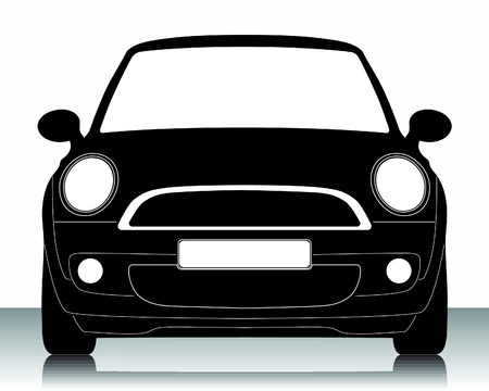 Vektor illustration av bil silhuett