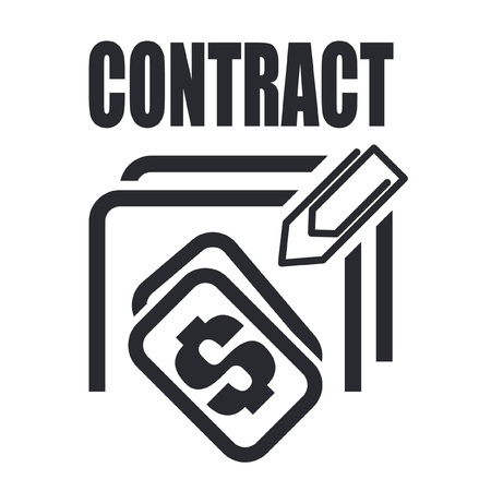 stipulation: Vector illustration of a icon  depicting a contract