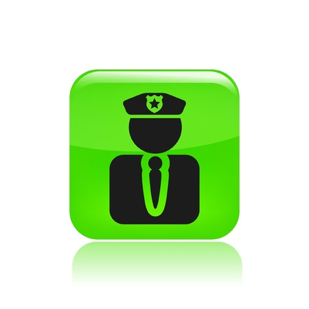the guard: Vector illustration of isolated modern police icon