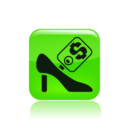 Vector illustration of single icon depicting a shoe price Stock Vector - 10545453