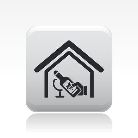 sommelier: Ilustraci�n vectorial de un solo icono moderno que representa el concepto de bodega