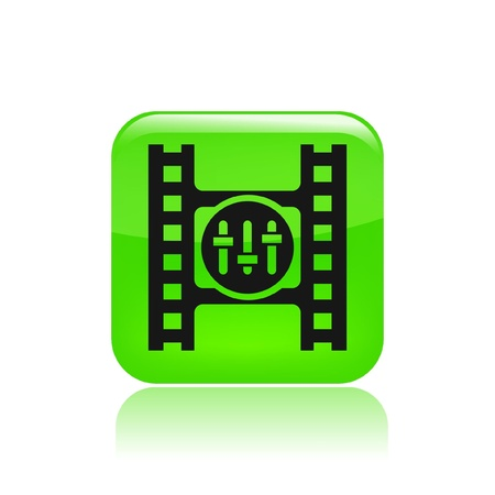 Vector illustration of single isolated video player icon Иллюстрация