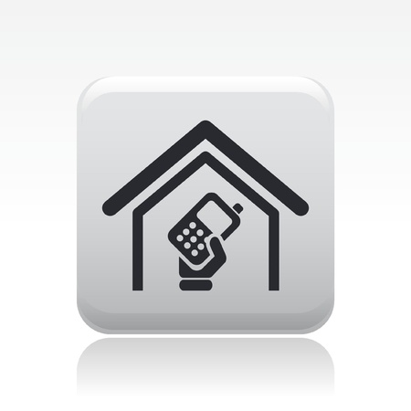 cordless phone: Vector illustration of single isolated phone icon