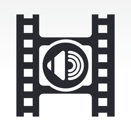 Vector illustration of video volume icon