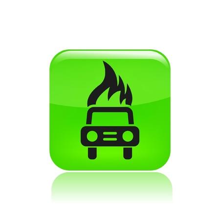 car bills: Vector illustration of car burning icon