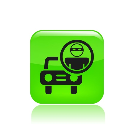 Vector illustration of car's thief icon Stock Vector - 12123077