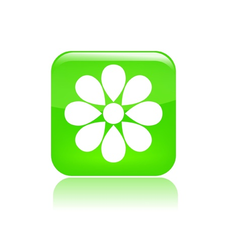 Vector illustration of flower single icon Stock Vector - 12122652