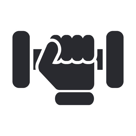 gym: Vector illustration of gym icon