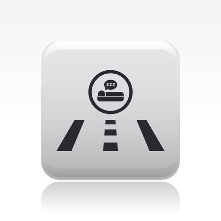 breackfast: Vector illustration of hotel direction road