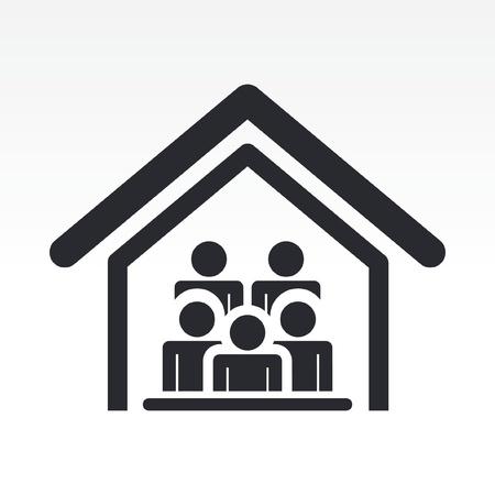 guests: Ilustraci�n vectorial de hu�spedes de la casa el icono