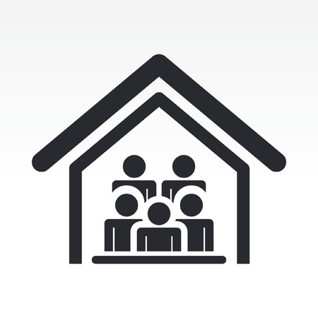 Vector illustration of guests house icon Stock Vector - 12119585