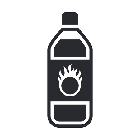 Vector illustration of single isolated dangerous bottle icon Stock Vector - 12119818