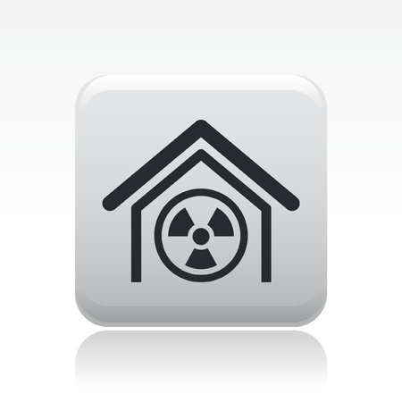 Vector illustration of nuclear industry single icon Stock Vector - 12119694