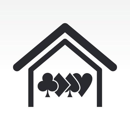 hold'em: Vector illustration of poker house concept icon Illustration