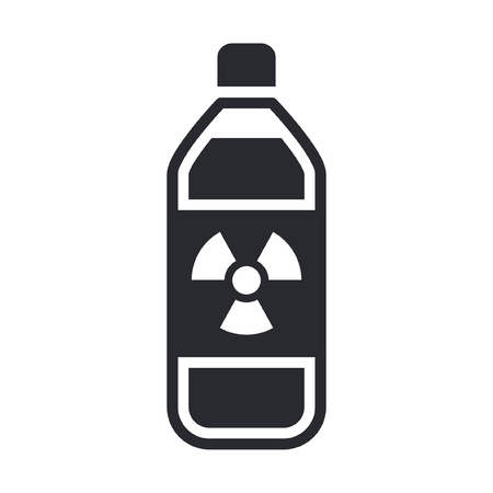Single isolated vector illustration of nuclear waste in bottle Stock Vector - 12119811