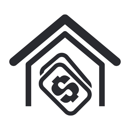 Vector illustration of house buy single isolated icon Vector