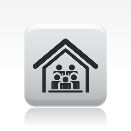 office party: Vector ilustraci�n de grupo de personas que viven juntas Vectores