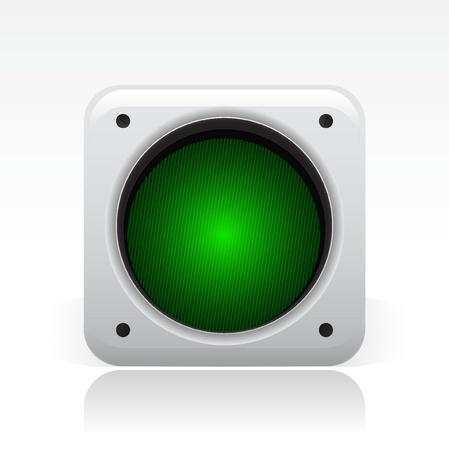 semaphore: Ilustraci�n vectorial de un solo icono de sem�foro aislado